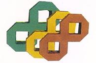 八字形植草砖